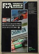 BELGIAN GRAND PRIX 1988 FORMULA ONE Spa Francorchamps Official Programme F1