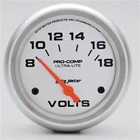 Auto Meter 4491 - AutoMeter Ultra-Lite Analog Volt Meter