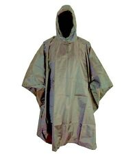 GENTS RIP-STOP WATERPROOF WINDPROOF PONCHO Mens Olive army jacket camp shelter