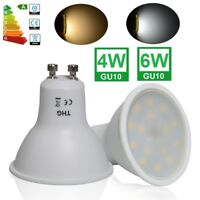 10x 4W 6W GU10 LED Bulbs Spotlight Lamps Warm Cool Day White Downlights 240V
