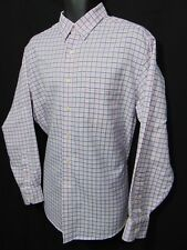 TOMMY BAHAMA Men's Dress or Casual Shirt 16.5 34-35 Pink Blue Checked Pocket