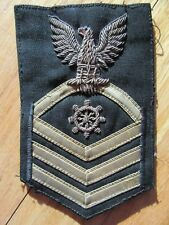 8P/NAVY BULLION ON CLOTH PATCH/EAGLE/SHIP'S WHEEL/WWII/STRIPES/82/RARE!