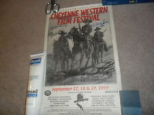 Cheyenne Western Film Festival Signed Poster Dick Jones Burton Gilliam Legarde