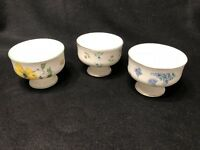 VTG ROYAL VICTORIA Fine Bone China ENGLAND Dessert/Sherbet Cups Dishes FLORAL