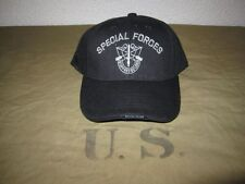 US Army Special Forces Insignia Baseball Cap Black Seals Navy Marines USMC WK2
