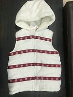 NEW Girls Size 5-6  Gymboree SNOWFLAKE Coat Jacket vest 49.95 white ivory
