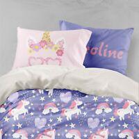 3D Purple Unicorn Quilt Cover Sets Pillowcases Duvet Comforter Cover FC