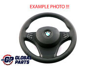 BMW X3 X5 Series E53 E83 NEW Black Leather Sport Steering Wheel Black Threads