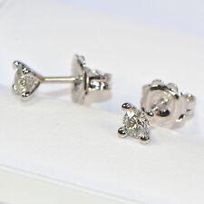 Diamant Ohrstecker 750er Weissgold 0,38 ct Brillant 4er Krappenfassung 4 Krappen
