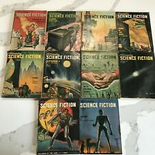 Astounding Science Fiction 1947 8 Issues Sci Fi Horror Pulp Book Dianetics