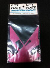 Pink CRIT PLATE INTERCHANGEABLES Pro Decal Sticker Set Old School BMX Number