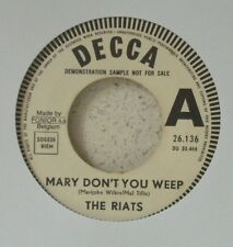 "The RIATS Mary don't you weep RARE 7"" (LISTEN) 1968 Nederbiet pop PROMO BELGIUM"