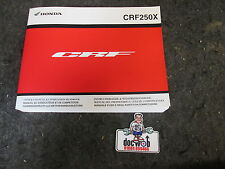 Honda CRF250X 2013 Genuine oem UK owners manual CR3046