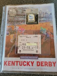 Medina Spirit Uncashed Winning Ticket Kentucky Derby Program Results and Pin !