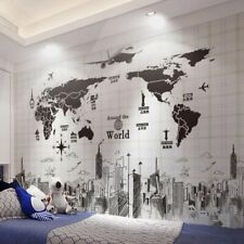 World map wall stickers room decoration home bedroom