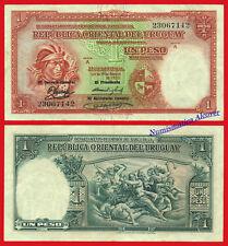 URUGUAY 1 Peso L. 1935 Pick 28c MBC- / F-VF