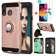 For Samsung Galaxy A10e Case Cover With Ring Holder Kickstand/Screen Protector