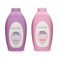 Cotton Tree Body Powder Talc Free-Rose/Lavender 280 g