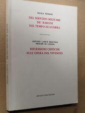 DEL SERVIZIO MILITARE DE BARONI NEL TEMPO DI GUERRA RIFLESSIONI Nicola Vivenzio