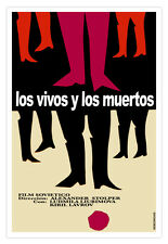 "Movie Poster for""VIVOS y Muertos""Good graphics.Dead and Alive.Home interior art"