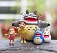 5pcs/Set Studio Ghibli My Neighbor Totoro Resin Figure Figurine Toy Model Fun