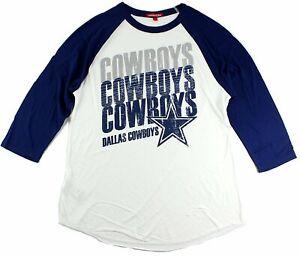 Dallas Cowboys Mitchell & Ness Women's 3/4 Sleeve Distressed Raglan T-Shirt