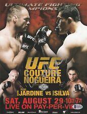 ANTONIO RODRIGO NOGUEIRA SIGNED AUTO'D MINI POSTER BAS COA UFC 102 CHAMP PRIDE