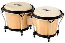XDrum Percussion Bongo Natur Club Standard schwarz satinierte Hardware