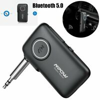 Mpow Wireless Bluetooth 5.0 AUX 3.5mm Audio Stereo Music Car Receiver Adapter