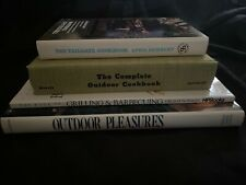Lot of (4) Vintage Outdoor Cooking/Grilling Cookbooks—Tailgate, Bbq, Picnics