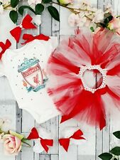 ❤ 3-6 Months Handmade 4pcs Liverpool FC Baby Girls Spanish Set Outfit Tutu ❤