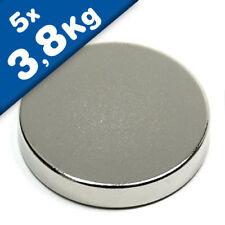 Nickel Rundmagnet  Ø  1x 1mm 20 x Scheibenmagnet Neodym N45 hält 25g