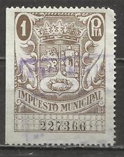 7480-SELLO FISCAL ESPAÑA AYUNTAMIENTO MADRID,LOCAL,IMPUESTO MUNICIPAL.REVENUE,