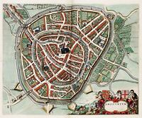 MAP ANTIQUE VAN LOON ATLAS CITY PLAN AMERSFOORT REPLICA POSTER PRINT PAM1288