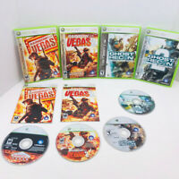 Tom Clancy's Rainbow Six Vegas 1 2 Ghost Recon 1 2 Xbox 360 Video Games Lot Of 4