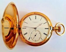 "ANTIQUE AUTHENTIC ""TIFFANY & CO"" GENEVE CHRONOMETER POCKET WATCH  51mm 18K GOLD!"