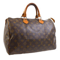 LOUIS VUITTON SPEEDY 35 HAND BAG PURSE MONOGRAM CANVAS SP0988 M41524 A54298