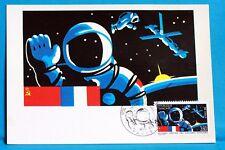 ENCUENTRO ESPACIO DE LA USSR FRANCIA CPA Tarjeta Postal Máximo Yt 2571 C