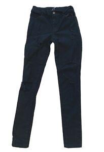 "Small Junior Women's Black Distressed Skinny Jeans New NWOT 29"" Inseam"