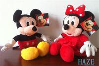 "2pcs/set Mickey Mouse Minnie Mouse Disney Plush Stuffed Toy Doll Kid Gift 11"""