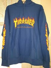 Supreme Thrasher Flame Hoodie Blue Men's Size Large NEW WITH TAGS!