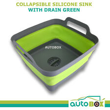 Collapsible Silicone Sink with Plug, Drain for Caravan, Camping, Pop Up Wash Tub