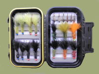 Boxed Trout Flies, 20 Hothead Lure & Nymph, Mixed Size, For Fly Fishing