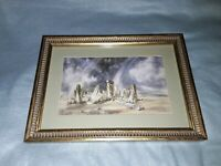 Vintage Stonehenge 1836  reproduction of a constable painting framed