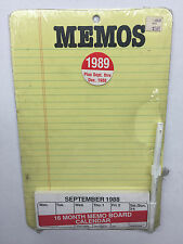 Vintage Whiteboard Memo Pad Reminder Dry Erase Board Yellow Lined Paper Notepad