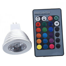 5X(MR16 3W 16 Color RGB LED Light Bulb Lamp + IR Remote Control DW