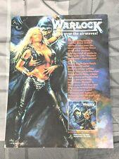 Warlock / Doro Pesch / 1987 Triumph And Agony Lp / Album Magazine Print Ad