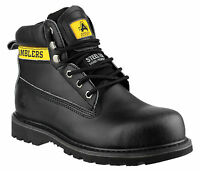 Amblers FS9 Safety Steel Toe Cap Mens Boys Industrial Boots Shoes Black UK4-13