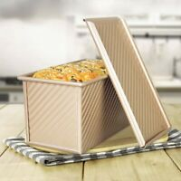 Pullman Loaf Pan with Lid Non-Stick Bakeware Bread Toast Mold Alloy Aluminum