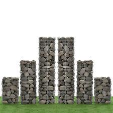 [NEU.HAUS]® Set de 6 gabions 115+75+45cm mur paroi colonnes